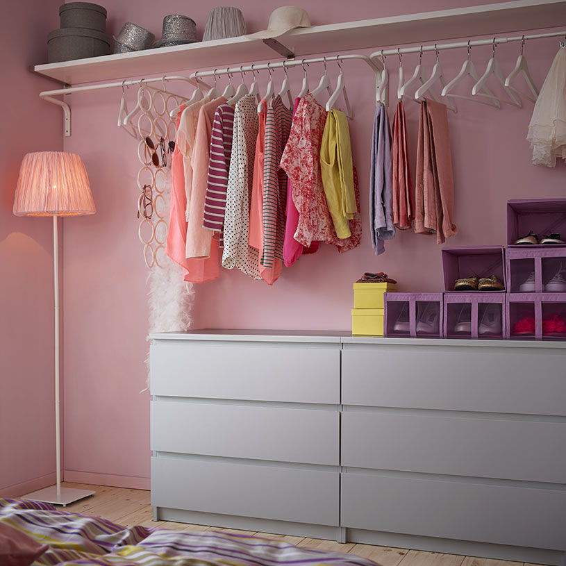 Simple solutions the malm dresser for Ikea dresser in closet