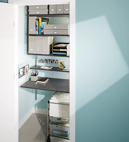 Simple steps to gaining a home office - Container store home office ...
