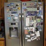 Refrigerator Door Clutter