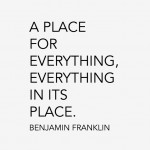 A Place For Everything…